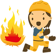 health and safety character fire - The Course